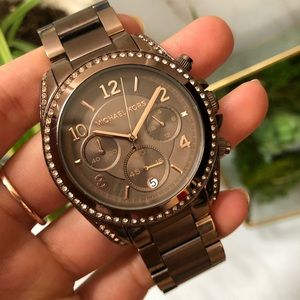 Michael Kors Blair Brown Chronograph Crystal Watch